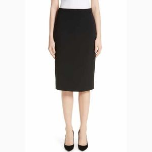 CLUB MONACO Black Pleated Back Slit Pencil skirt